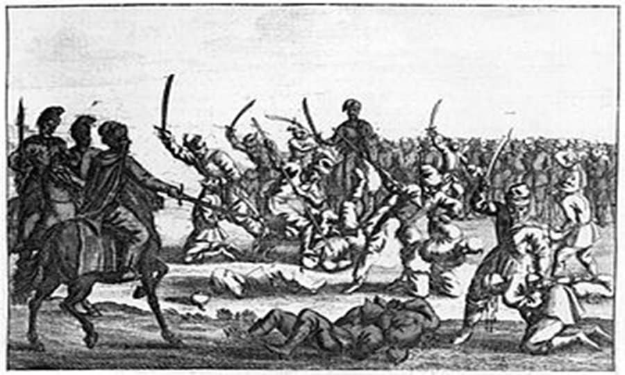 Massacre of polish captives after the battle of batoh 1652
